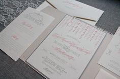 Cute Wedding Invitation, Rustic Wedding Invitation, Blush Pink Wedding, Gray Wedding Invitation, Grey Wedding Invitation - Taryn and Brian