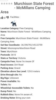 Vic State Forest, Camping Spots, Campsite, Camping