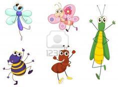 Ilustración de animales pequeños en blanco Foto de archivo - 13800515