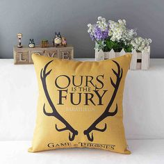 Game of Thrones Printed Throw Pillow Case