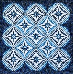Compass Point Quilts | BeColourful Something Blue Pattern ~ $45.00 **NEW**