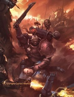 "ArtStation - ""Warhammer 40k - Imperium Nihilus: Vigilus Ablaze"" book cover, Jaime Martinez Warhammer Books, Warhammer 40k Art, Warhammer Models, Warhammer Fantasy, Chaos 40k, Chaos Daemons, Sons Of Horus, Gundam Wallpapers, Book Cover Art"