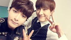 Ryeowook with Zhoumi ♡