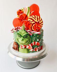 Grinch Cake, Mr Grinch, Stink Stank Stunk, Cake Ideas, Tart, Cakes, Baking, Sweet, Christmas