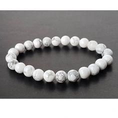 5.90 eur, Magnezit náramok, Magnezit uvoľňuje napätie a stres. Podporuje pozitívny prístup k sebe samému. Beaded Bracelets, Jewelry, Jewlery, Jewerly, Pearl Bracelets, Schmuck, Jewels, Jewelery, Fine Jewelry