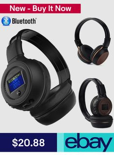 Bluetooth Stero Wireless Headset Headphone Earphone Earbuds with Call Mic FM Wireless Headset, Bluetooth, Gaming Headphones, Gaming Computer, Stuff To Buy, Ebay