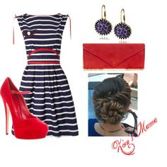 """Red, White and Blue"" by zionsmama on Polyvore"