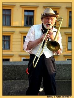 Czech Republic Picture: Old street musician on Charles Bridge © Peter Visontay