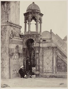 Francis Bedford - Pulpit in the Enclosure of the Mosque of the Dome of the Rock, Jerusalem, 1862