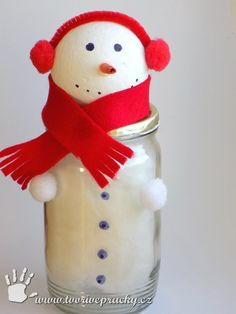 Sněhulák ze zavařovací lahve