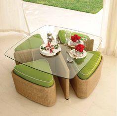 Zeitgenössische Outdoor-Möbel von Gloster - die Sushi-Outdoor-Kollektion #garden #tavolo #tisch #kristalia #sofa