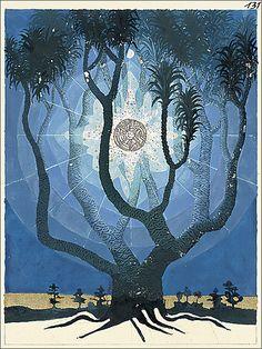 el árbol de la vida pintado por el psiquiatra y sabio Carl Gustav Jung, quien…