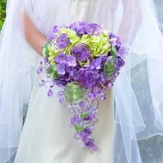 Hochzeit brautsträuße La Hydrangea lila green von wandadesign auf DaWanda.com