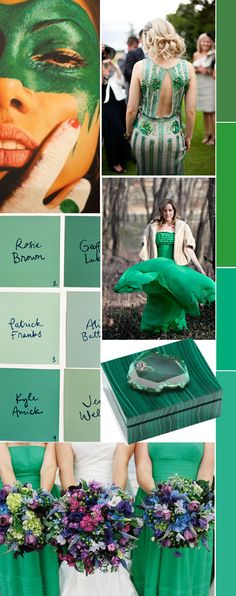 emerald - Pantone color of the year 2013  #moodboard