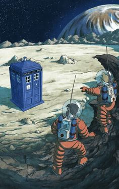 THE TARDIS AND THE SPACEMEN