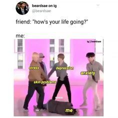 Same lol 😂 Namjoon, V Taehyung, Yoongi Bts, Bts Jimin, Bts Memes Hilarious, Funny Relatable Memes, Funny Posts, Bts Gifs, Pokerface