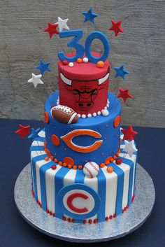 Chicago Sports Cake | Flickr - Photo Sharing!