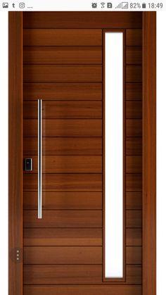 Modern Entrance Door, Modern Wooden Doors, Modern Door, Wooden Front Door Design, Wooden Front Doors, Interior Door Styles, Door Design Interior, Luxury Homes Exterior, Grill Door Design