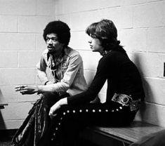 Jimi handrix Mick jagger  1969