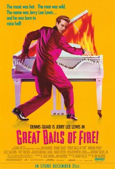 Great Balls of Fire! , starring Dennis Quaid, Winona Ryder, John Doe, Stephen Tobolowsky. The life and career of the wildly controversial rock 'n' roll star, Jerry Lee Lewis. #Biography #Drama #Music
