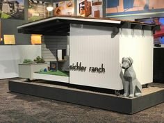 Modern Dog House Mid Century Eichler Ranch, The Effective Pi Modern Dog Houses, Cool Dog Houses, Dog House Plans, Mid Century Ranch, Wood Siding, Dog Runs, Animal House, Shipping Crates, Pets