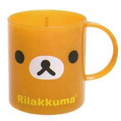 Plastic cup from popular San-X character series Rilakkuma. Including a blank sticker to write your name on and personalize your own cute Rilakkuma cup. Size: 8cm Diameter: 7cm