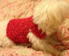 Cute Red Sparkley Dog Sweater  xs