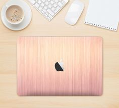 The Rose Gold Brushed Surface Skin Kit for the Apple MacBook Air - Pro or Pro with Retina Display (Choose Version)