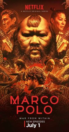 """Created by John Fusco.  With Benedict Wong, Olivia Cheng, Joan Chen, Zhu Zhu. In a world replete with greed, betrayal, sexual intrigue and rivalry, """"Marco Polo"""" is based on the famed explorer's adventures in Kublai Khan's court in 13th century Mongolia."""