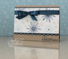 Serene Snowflake Stampin' Up! Card by Andrea Walford. I love her choice of colors!