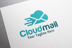 Cloud Mail Logo by gunaonedesign on Creative Market