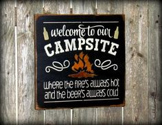 Sign for the Campsite Camping sign Fathers Day Gift by Woodticks