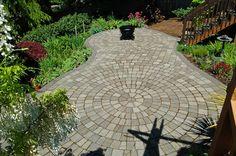 killer circle paver patio