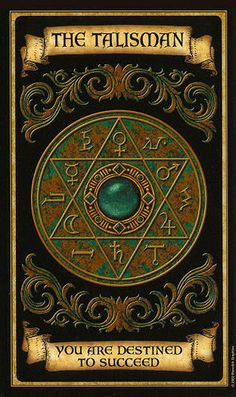 The Talisman - Madame Endora's Fortune Cards Fortune Cards, Fortune Telling Cards, Wiccan, Magick, Magia Elemental, Arte Black, Angel Cards, Oracle Cards, Book Of Shadows