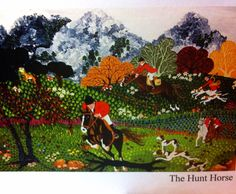 The hunt horse