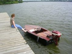 Squirt by Jeff Cobb, Baton Rouge, Louisiana - Wooden Boat Building, Boat Building Plans, Old Boats, Small Boats, Speed Boats, Power Boats, Pedal Boat, Wood Boat Plans, Classic Wooden Boats