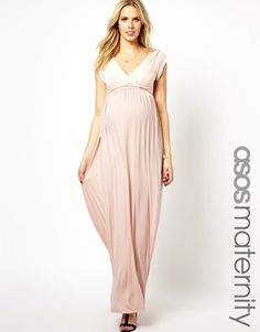 ASOS Maternity Exclusive Drape Maxi Dress with Ties @Beth J Breyman this would be perfect for preggo bridesmaids! ;)