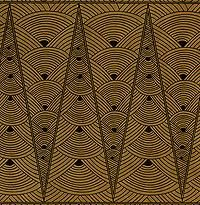 SKU/EAN 82-697  Manufacturer Savoir Faire  Price $5.75  Quantity         Art Deco Printed Lama Li Paper- Black on Tan  Inspired by the Art Deco movement, these papers bring to life the bold, geometric look common to architecture, interior and industrial design during this era. Printed on 90 gsm Lokta paper in rich natural tones and an ultra-modern black and white. Sheets are 20x30 inches and have four natural deckled edges. This sheet features a black design printed on tan paper. Art Deco Print, Art Deco Movement, White Sheets, South Beach, Industrial Design, Black And White, Architecture, Modern, Prints