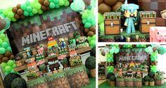 Minecraft Themed Birthday Party Tween com tantas ideias incríveis via Partido Idéias KarasPartyIdeas.com #partyideas #minecraftparty #tweenparty de Kara (10)