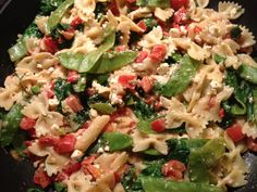 Bow Tie #Pasta w/ Plum Tomato, Feta Cheese, Fresh DIll, Snow Peas a great addition to #catered #buffet  www.teatimeinc.com
