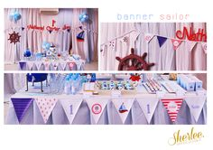 Party Design. 1st Birthday Sailor Theme. by Sherli Sukangto, via Behance