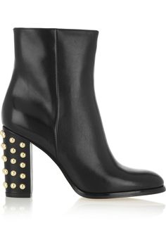 MICHAEL Michael Kors|Linden studded leather ankle boots |NET-A-PORTER.COM