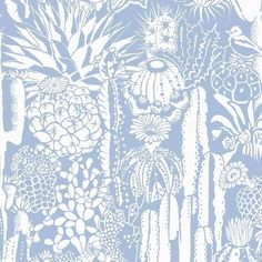 Cactus Spirit Screen Printed Wallpaper In Color Peri 'soft White On... ($198) ❤ liked on Polyvore featuring home, home decor, wallpaper, white, white home decor, white pattern wallpaper, cream wallpaper, cactus home decor and graphic wallpaper
