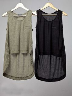High low tank tops