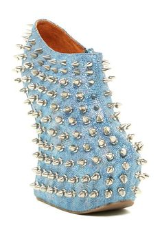 WHAT THE....????   Jeffrey Campbell Shadow Stud Heel-Less Bootie by Assorted on @HauteLook