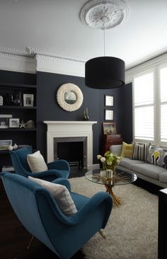 #livingroom #blackwalls