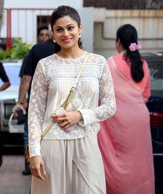 Shamita Shetty at Viaan Raj Kundra's birthday bash. #Bollywood #Fashion #Style #Beauty #Hot #Sexy