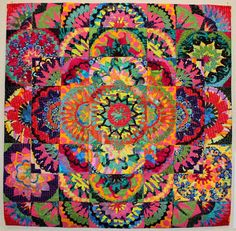 Mosaic Flowers, a quilt by Marylee Drake
