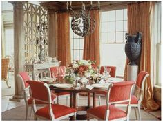 coral, cute chairs for kitchen
