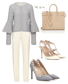 """It's Ok to Grey!!!"" by la-harrell-styling-co on Polyvore featuring Chloé, Pepa Pombo, Valentino and Yves Saint Laurent"